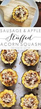 sausage and apple stuffed acorn squash cherished bliss