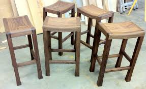 simple natural wooden rustic saddle seat bar stools ideas popular