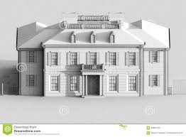 mansion clipart black and white 3d render of a house grey royalty free stock photo image 12295715
