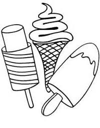 morning black and white ice cream coloring pages free printable