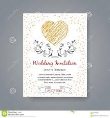 Marriage Invitation Card Templates Wedding Invitation Card Template With Hand Drawn Stock Vector