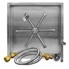 Propane Burners For Fire Pits - firegear 26 inch square burning spur propane gas fire pit burner