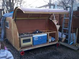 Teardrop Trailer Plans Free by Diy Camper Trailer Designs With Innovative Inspirational In Canada