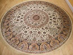 Round Traditional Rugs Amazon Com Stunning Silk Rug Persian Traditional Area Rugs Round