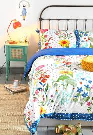 multi bedding decor by color
