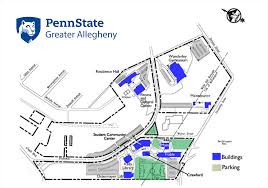 Map Of Penn State Campus by Ga Campus Map Penn State Greater Allegheny