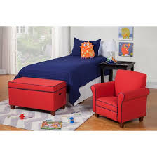 Childrens Storage Ottoman Kids Storage Ottoman Red Homepop Target