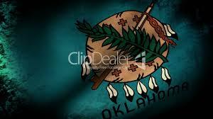 Flag Of Oklahoma Oklahoma State Flag Waving Grunge Look Royalty Free Video And