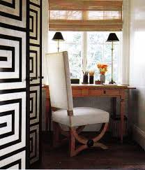 Buffet Lamps With Black Shades by Black And White Floor Screen Transitional Den Library Office