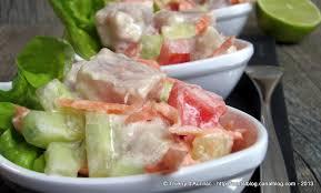 cuisine tahitienne recettes salade tahitienne ou poisson cru au lait de coco un grain de
