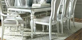 White Distressed Dining Room Table White Dining Room Set With Bench White Washed Table And Chairs