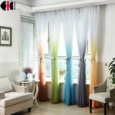 Multi Colored Curtains Drapes Wedding Ceiling Drapes Baby Room Soft Multi Color Blinds Living