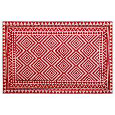 Indoor Outdoor Rugs Lowes by Shop Garden Treasures Red Rectangular Indoor Outdoor Machine Made