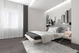 vorhänge schlafzimmer schlafzimmer einrichtung mit dunklen vorhänge stockfoto 74044823