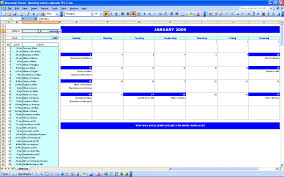 monthly event calendar excel templates