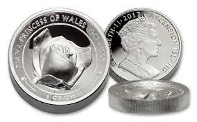2017 2 oz silver princess diana rose uhr piedfort proof coin