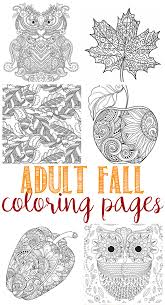 fall coloring pages for adults owl coloring and craft