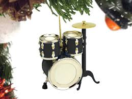 buy black drum set ornament gift