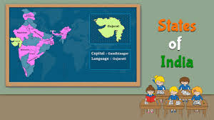 India Map With States by India 29 States Capitals And Their Languages Gk For Kids