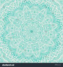 ornamental lace pattern square background many stock vector