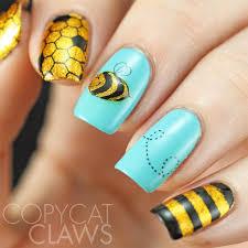 bee nail art tutorial youtube copycat claws the digital dozen