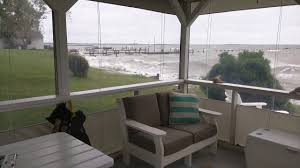 Temporary Patio Enclosure Winter by Porch Enclosure In Heavy Wind Hurricane Matthew Youtube