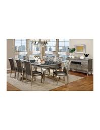 surprising black and silver dining room set contemporary best