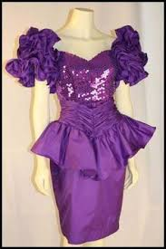eighties prom dress 80s prom dress purple sequin peplum detail 80 s to the max