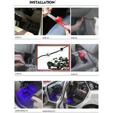 Car Interior Blue Lights All 36led Car Interior Blue Light Atmosphere Decorative Lighting