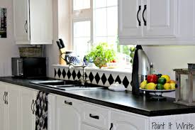 How To Update Old Kitchen Cabinets Beautiful White Kitchen Update With Chalk Paint Remodelaholic