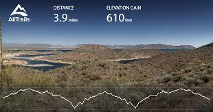 lake pleasant map pipeline trail arizona maps photos for hiking biking