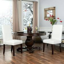 Stylish Furniture Dining Chairs Morgana Tufted Parsons Dining Chair Set Of 2 White