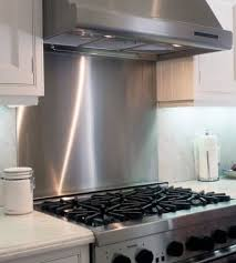 Custom Backsplashes  Cooktop Splashes Frigo Design - Custom stainless steel backsplash
