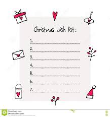 christmas wish list christmas wish list template stock vector image 78478348