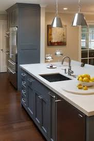 Charcoal Gray Kitchen Cabinets Benjamin Moore Kendall Charcoal Paint On Kitchen Island From Olive