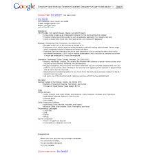 Resume Template Google Doc The Google Resume Resume For Your Job Application