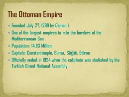 Ottoman Empire Facts Facts About The Ottoman Empire