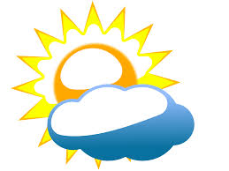cloudy sun clip art at clker com vector clip art online royalty