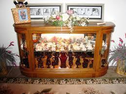lighted curio cabinet oak solid oak lighted curio cabinet glass my grand haven estate sale