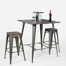 metal bar table set china metal bar furniture industrial tolix table and chair set fs