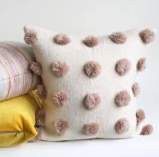 Pom Pom Pillow Rose Blush Ivory U2013 Tonic Living Home
