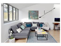 Open Floor Plan Kitchen Family Room by Bespoke Soft Furnishings Minimalist Style Holiday Flat Refurbished