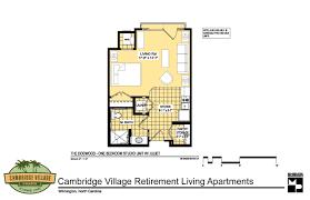 floor plans cambridge village of wilmington two bedroom plan idolza