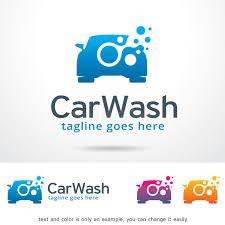 car wash logo template design vector stock vector image 84827945