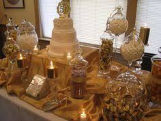 Chocolate Candy Buffet Ideas by Metallic Kisses For Table Settings Nichole U0027s Big Day Pinterest