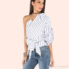 blouses with bows at neck 2018 2017 one shoulder blouse cross bow tie