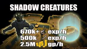 shadow creatures slayer guide 2017