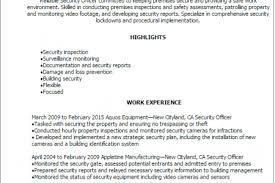 Security Job Description Resume by Unit Supply Specialist Cover Letter