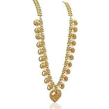 traditional bridal wear one gram gold plated chain haram buy