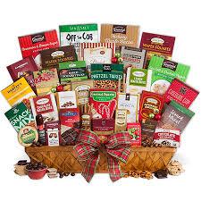 international gift baskets international christmas snack gift basket jumbo by